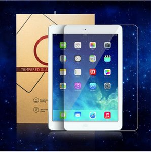 By railway tempered glass screen protector protective film for Ipad pro air 2018 10.5 11 inch samsung tablet with hard paper retail package
