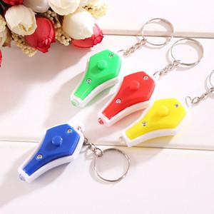 يو في ضوء المال كاشف سلسلة مفاتيح Keychain مصغرة LED Ultraviolet Money Detector Chain Key Chain Fashion Portable Key Ring الجملة 4 ألوان DBC VT0383