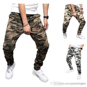 Druck Kordelzug Herbst Stil Homme Kleidung Mode-Art-beiläufige Kleidung Mens-beiläufige Desinger-Bleistift-Hosen Camouflage