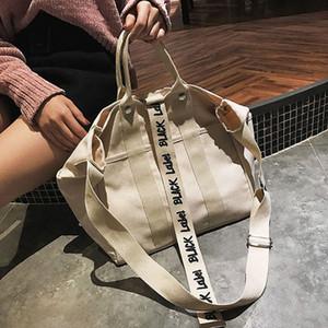 2019 Moda Crossbody Çanta Yüksek kapasiteli Katı Yumuşak Casual Totel Tuval Messenger Çanta Bao Bao Çanta
