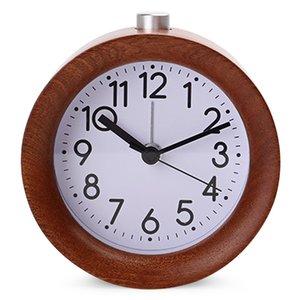 2019 di legno creativo Digital Clock Circolare n Ticking Snooze retroilluminazione Digital Desk Alarm Clock ricaricabile