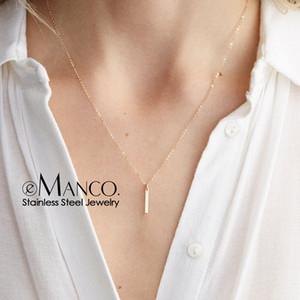 E-Manco стильный кулон ожерелье из нержавеющей стали многослойное ожерелье лучший друг минималистский колье ювелирные изделия