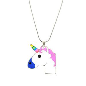 Colliers De Licorne Exquis Pour Filles Enfants Enfants Mode Femmes Bijoux Accessoires Accessoires Émail Cartoon Cheval Nacklace