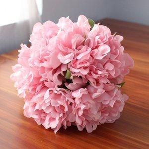 Экологически чистые 27 см Aritificial Рафи Шелковый Пион букет Aritificial цветок DIY партия свадьба невесты рука розы поддельные букет цветов 1 лот=1Bouquet