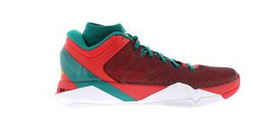 Tamaño de envío gratuito mamba VII 7 Año de los zapatos de baloncesto de los hombres del dragón alta calidad mamba rojo púrpura calzado deportivo con la caja 7-12