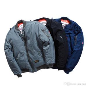 BIG FOR SAM II MA1 폭격기 재킷 야구 유니폼 공군 남성과 여성 패딩 코트 커플 모델 솔리드 컬러 루스 패션 자켓