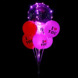 Balloon Таблица Floating Кронштейн Transparent Base Rod Drag Scene Decoration Отель Банкет Установить кронштейн Украшение EEA1678