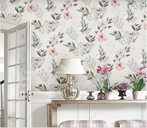 3d wallpaper custom photo murals Modern minimalist retro pastoral small floral flower Nordic background stickers homedecor wall art pictures