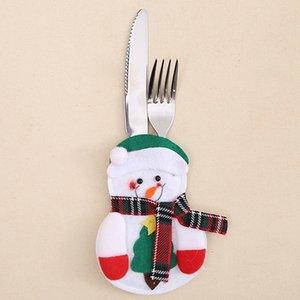 С Рождеством Христовым Нож и Вилка Сумка Санта-Клаус Снеговик Сумка Рождественские Украшения для Дома С Новым Годом 2020 Navidad Decor
