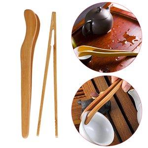 Utensil Pişirme 1PC Gadget Mutfak Aracı Tong Gıda Tost Bacon Şeker Çay Maşa Salata Klip Bambu Ahşap Cımbız