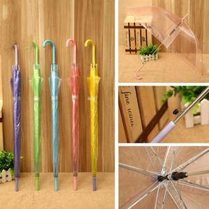 Transparente mango largo paraguas de la decoración Photo apoyos del partido de danza Performance Clear Paraguas de la boda regalo de la manera Nueva LXL625