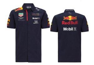 velocidade de 2020 camisa corridas rendição terno de lapela F1 Formula One corridas de manga curta terno camisa do time