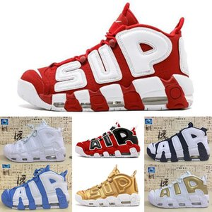 Nike Air More Uptempo 96 2018 Scottie Pippen World Famous Lace Olympic Air Mens Basketball Chaussures hommes Plus Mode Sport Casual Sneakers WM56