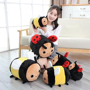 Difusa Bumblebee Plush Bee, Buzzy A abelha do mel Toy Animal Recheado, 7.9Inch amarelo gordo Cuddle Bee Plushie descanso macio para o aniversário crianças
