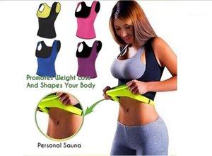 Wholesale- Sexy Neoprene Sauna Super Stretch Waist Trainer Vest Summer Body Fitness Shaperwear Lose Weight Slimming Shaper Tops1