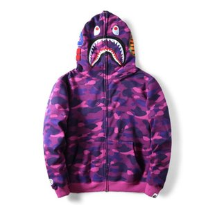 men's Hoodies Hot Camo Shark