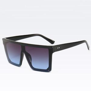 Homens e mulheres Flat Top Moda óculos oversized Arrefecer Goggles grande praça armação de plástico óculos de sol UVA UVB 11 Cores