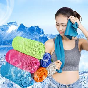 90 * 30cm doppio strato di ghiaccio di raffreddamento del tovagliolo Estate Sport Esercizio fredda Asciugamani Quick Dry Ice Cold Washcloth Ipotermia tovagliolo freddo migliore