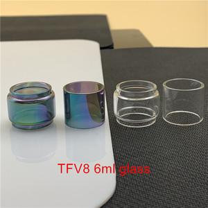 SMOK TFV8 6ml cloud Bestia serbatoio sostituzione della lampada di vetro del tubo Fatboy 9 ml Bubble convesso normale vetro libero Arcobaleno