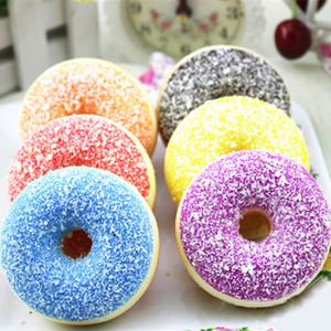 Muqgew Slime Oyuncak Antistress Lustige Gadgets Squishy Squeeze Stress Reliever Weiche Bunte Donut Duft Langsam Steigendes Spielzeug
