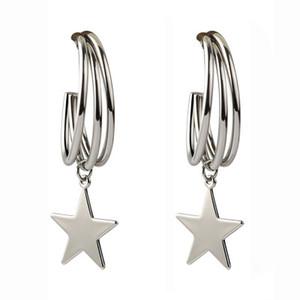 2019 Boucles d'oreilles créoles Huggie en or, croix / étoile / Flamingo Dangle Hoop Cuff Boucles d'oreilles Boucle d'oreille Huggie pour les femmes