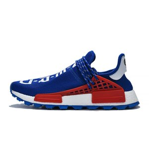 2020 Human Race Hu trail Pharrell Williams Mens Running Shoes for men women Yellow Red Nerd Black Runner Sports Sneakers Designer