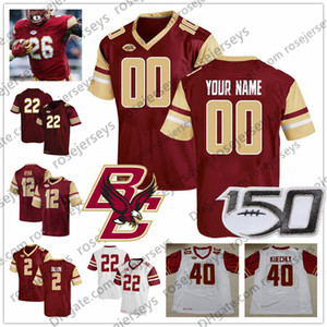 Individuelle Boston College 2019 Fußball Alle Name Anzahl Rot Weiß 13 Anthony Brown 2 AJ Dillon 6 Dennis Grosel NCAA 150. Jersey 4XL