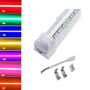 LED 색상 통합 튜브 라이트 2피트 22W (40W 상당) 600mm, T8 2FT V 모양 통합 튜브 램프 네온 실내 조명