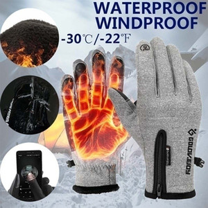 New Men And Women Winter Warm Unisex Fleece Outdoor Sports Waterproof Windproof Riding Bicycle Motorcycle Skiing Hiking Touch Screen Gloves