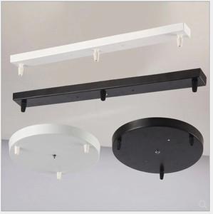 Lámparas de techo Lámparas / colgante Base alumbrado de la placa de iluminación Accesorios Negro / blanco ronda / Techo base rectangular Toldo Placa Lámparas