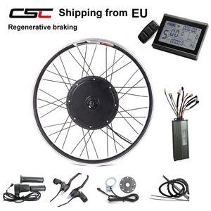 El envío de la UE No hay impuesto e-bici 48V 1500W conversión de la bici eléctrica rueda trasera Kit de 26 '' 27,5 '' 28 '' 29 '' 700C con pantalla KT LCD3
