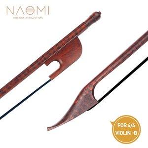 NAOMI 4/4 Violin Bow Barroco Bow Bow Snakewood W / Preto Horsehair Snakewood Sapo Bem Balance Para 4/4 Violin alta qualidade