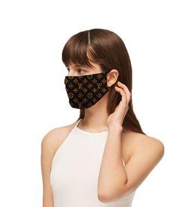 Flower Letter Print Designer Rosto Máscaras Luxo Máscara lavável material Dustproof Equitação Ciclismo Fora Máscaras Sports moda para Adulto
