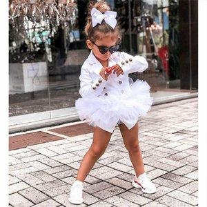 Niños Niñas Chicas Slim Fit Blazers Button Button Button With Lace Tulle Faldas Tops Chicas Adolescentes Otoño Blazer Formal Chaquetas