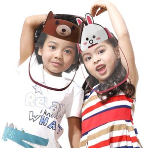 US Stock Children Full Face Shield Plastic Anti Spitting Kids Protective Mask Dust Proof Face Visor Boys Girls Facial Protection Cover