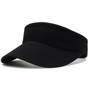Empty Top Hat Solid Sports Tennis Cap No Top Visor Beach Hat Outdoor Sports Summer Sunscreen Quick Dry Outdoor Hat LJJJ149