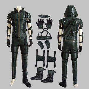Green Arrow Costume Seta Estação 4 Cosplay Oliver Queen Conjunto completo