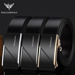 WilliamPOLO bracelet en cuir Homme Ceintures Boucle automatique pour les hommes Ceinturon Tendance Ceintures Fashion Designer ceinture d'or de luxe Ceinture de T200615