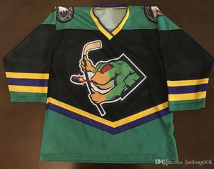 Rare Vintage OT ECHL Louisville River Frogs Hockey Jersey Embroidery Stitched Customize any number and name Jerseys