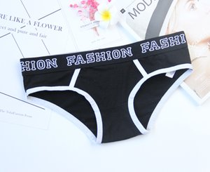 2019 Female Briefs Fashion Design Ladies Underwear Cotton Fabric Triangle Sexy Low Waist Wide Side Womens Big Size Women Panties wholesale
