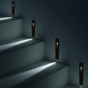 Recessed 3W LED Stair Light Retângulo AC100-240V Interior LED Wall Sconce Iluminação Escadas Stairway Stairway Hallway Staircase Lâmpada