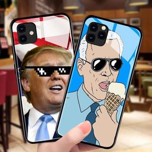 ترامب انتخابات 2020 حالات الهاتف الزجاج المقسى الهاتف الخليوي واقية شل القضية للحصول على 11 برو 5 6S 7 8 زائد XR XS ماكس يغطي D22801