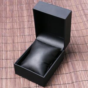 عالية الجودة الفاخرة الأسود جلدية ووتش صندوق مجوهرات المنظم مع وسادة رغوة صغيرة هدية صناديق المعرض عرض حالة التخزين