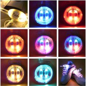 100pcs (50 paires) Mode lumineux LED Lacets fonctionnement flash électronique LED pour Night Party Disco Sport Glow Lacets