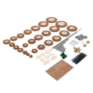 Saxofón Alto reparación de cañas agujas tornillos para Cork almohadillas de piel botones clave Instrumento de viento Piezas