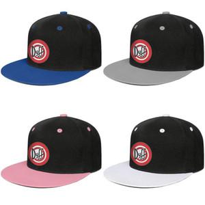 Duff bira Logosu erkek ve bayan snap back baseballcap gömme beyzbol hip Hopflat brimhats logo
