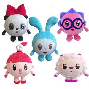 15CM русский мультфильм Malyshariki Кролик Свиньи Hedgehog овец панды плюшевые игрушки для детей Дети Мальчик подарок именинница шарика куклы
