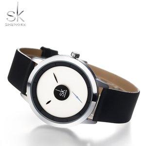 2021 Shengke Women Regardez des conceptions créatives Dames Casual Quartz Montre-Bracelet Rotation Dial Pointeur Deux Taille Horloge Montre Femme Reloj Mujer