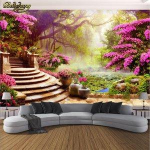 beibehang Custom Photo Wallpaper Mural Wall Sticky Garden Tree Landscape 3d Background Wall papel de parede