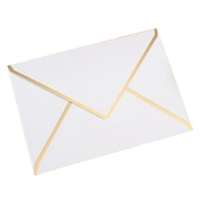 15 Piece, 190mmx140mm Hot Stamping Envelope 250G Pearl Paper Wedding Business Invitation Envelope,White 19cmx14cm
